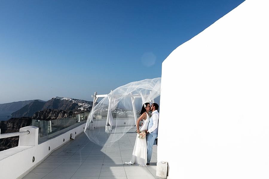 Liz & Dan - Santo Winery, Santorini